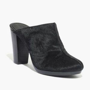 Madewell Andie High Heel Calf hair Clog